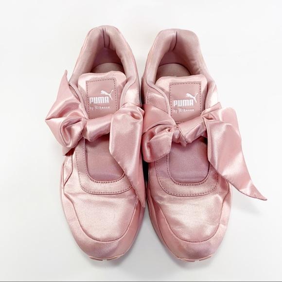 Rare Rihanna Fenty Sneakers Pink Satin